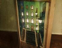 Sunday stroll in Paris handmade lamp