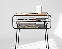 Double Nightstand Iron & wood series
