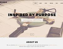 Phoebe - One Page Responsive WordPress Theme.