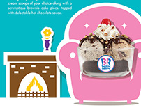 Baskin Robbins Winter Warmer Campaign
