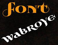 Free font Wabroye