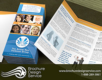 Tri-fold brochure design for organization