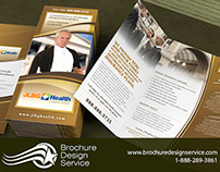 Set of tri-fold brochure designs