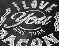 Hand Drawn Chalkboard Typography