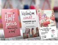 POS material - Kipling campaigns