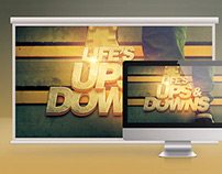 Life's Ups and Downs Church Slide Template