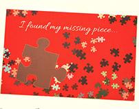 Valentine Puzzle Piece Greeting Card