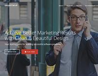 SmartMvp - Startup Landing Page WordPress Theme
