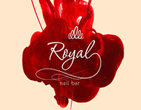 Royal nail bar: logo and business card
