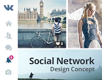 Social Network Design Concept