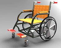 Wheel Chair  with Adjustable handle