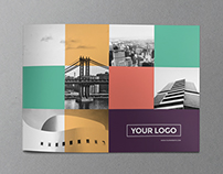 Colorful Squares Brochure