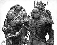 Teenage Mutant Ninja Turtles P. Drawing by Julio Lucas