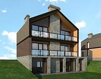 Frame houses design