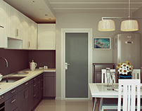 Kitchen in two colors