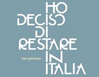 non giovanni - HO DECISO DI RESTARE IN ITALIA - CD