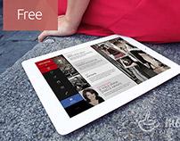 Free PSD iPad MockUp Lady in Italy