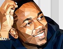 Kendrick Lamar - Vector Low-Poly