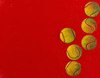 Balls on red