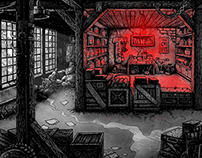 Sample scenography for animation / video games