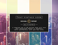 That Vintage Look - 20 Photoshop Actions