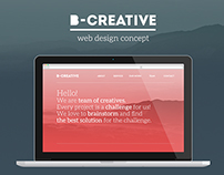 B-Creative -web-design concept
