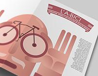 Infographic / Tri-fold LA-BICI   INFOGRAPHIC DESIGN