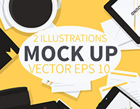 Vector mock up Illustrations