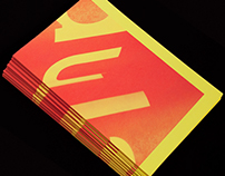 Brownfox typefaces 2013–14 leaflet.  A2 Offset.