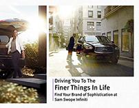 Sam Swope Infiniti Magazine Spreads