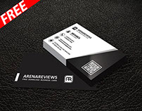 Black & White Corporate Business Card Template (FREE)