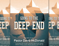 Going To The Deep End Flyer Template
