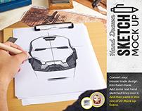 Hand Drawn Sketch Mock Up Pack