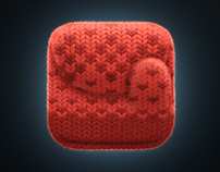 Making of Knitted mitten iOS icon