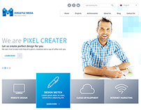 One Page Media Type PSD Template