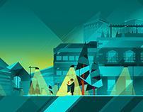 City Illustration Using Affinity Designer Software