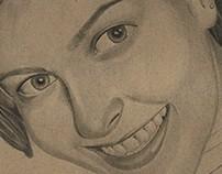 Adrielle Abrahão - Graffiti pencil portrait