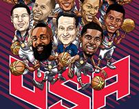 Team USA Basketball art