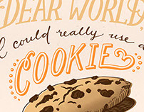 cookie needs // personal hand lettering