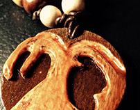 Wood Carved Tree Pendant