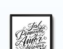 SAL, PIMIENTA Y AMOR // Lettering