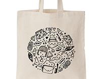 Illustrated Tote: Fashion & Food