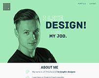 Personal website - responsive webdesign