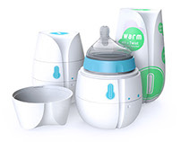 Qi - Self Heating Disposable Baby Bottle