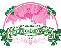 Alpha Kappa Alpha Alpha Rho Omega Chapter Logo