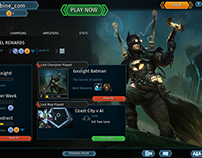 Infinite Crisis - Redesign of Player Home Page