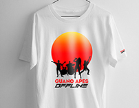 "Guano Apes ""Offline' - Design for Official T-­Shirt"