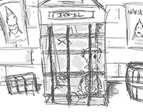 Pirate Cove - Interior Design Concept Sketches