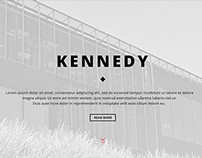 KENNEDY - Creative One Page