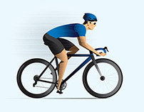 Bicycling magazine feature illustrations